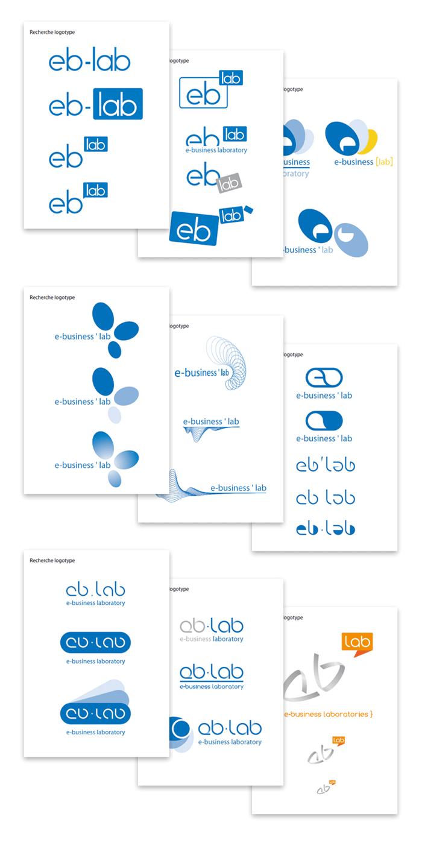Recherche logotype eb-lab