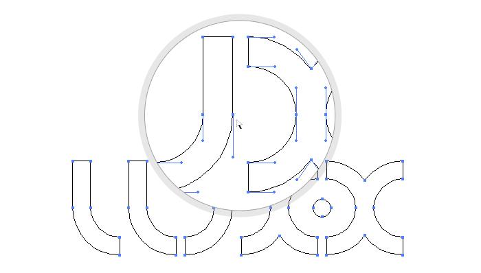 Tracé typographie lux-x
