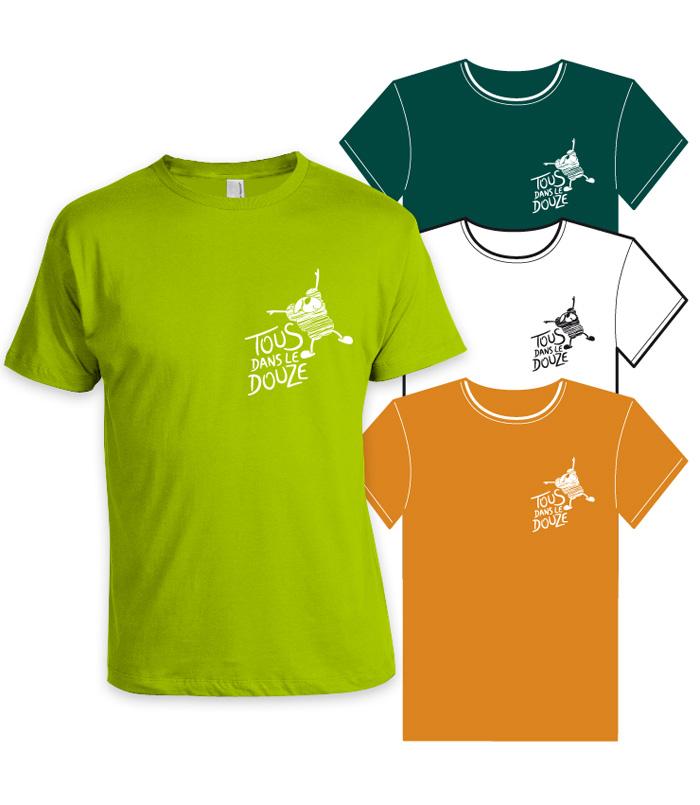 Tee-shirts Tous dans le Douze