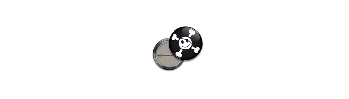 Visuel badge smiley pirate