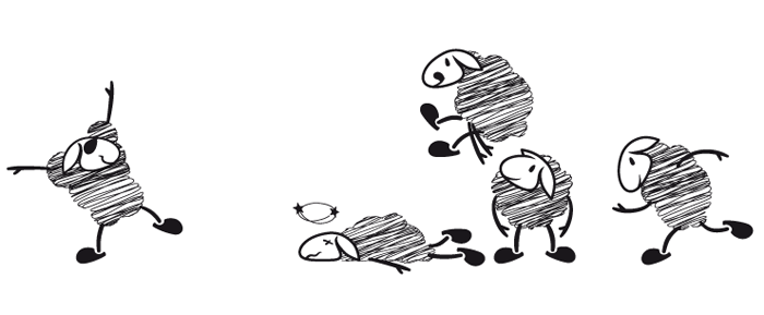 Visuel brebis saute mouton