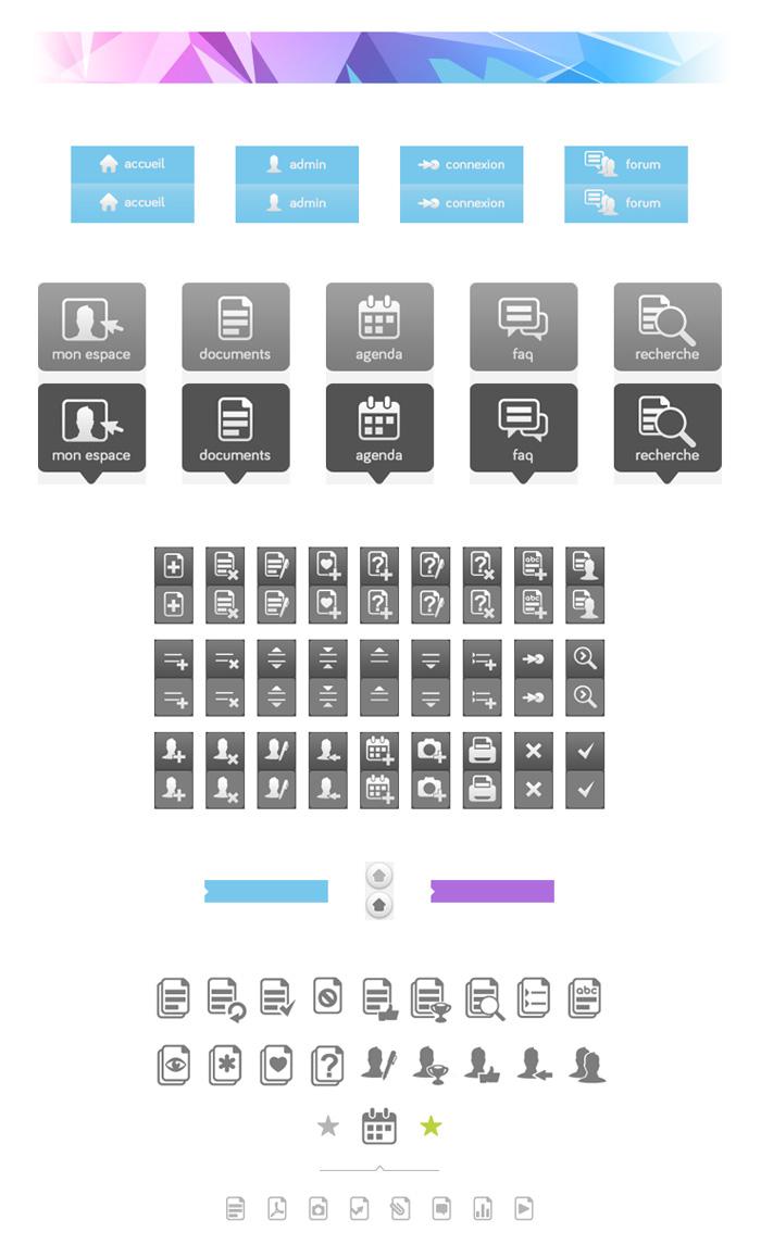 Visuel des éléments de l'Interface NestKM