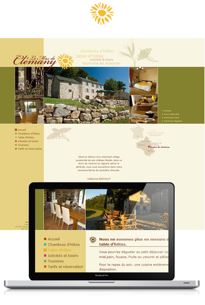 Visuel site Mas de Clemany