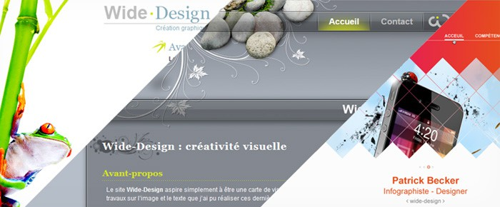 Visuel site wide-design