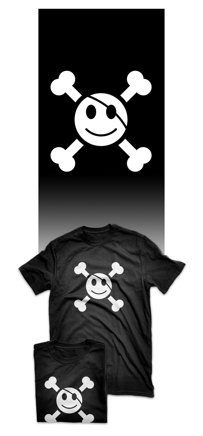 Visuel t-shirt smiley pirate