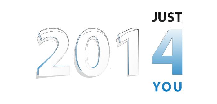Visuel de la typographie des voeux 2014