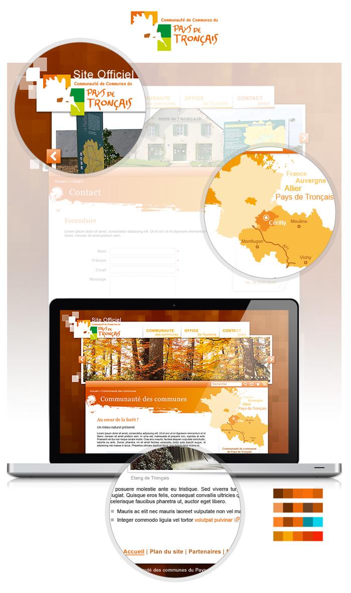 Visuel du webdesign Pays de Tronçais