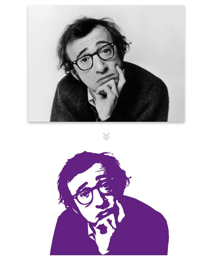 Visuel Woody Allen pour lobby Teletech Campus