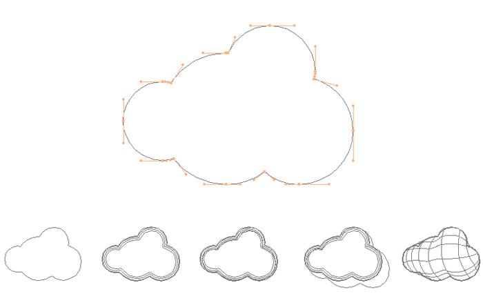 Tracés nuages