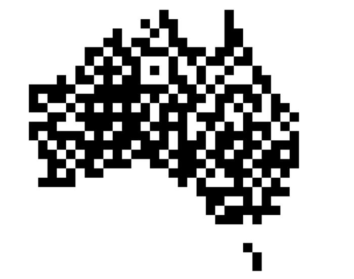 Visuel Australie qr-code
