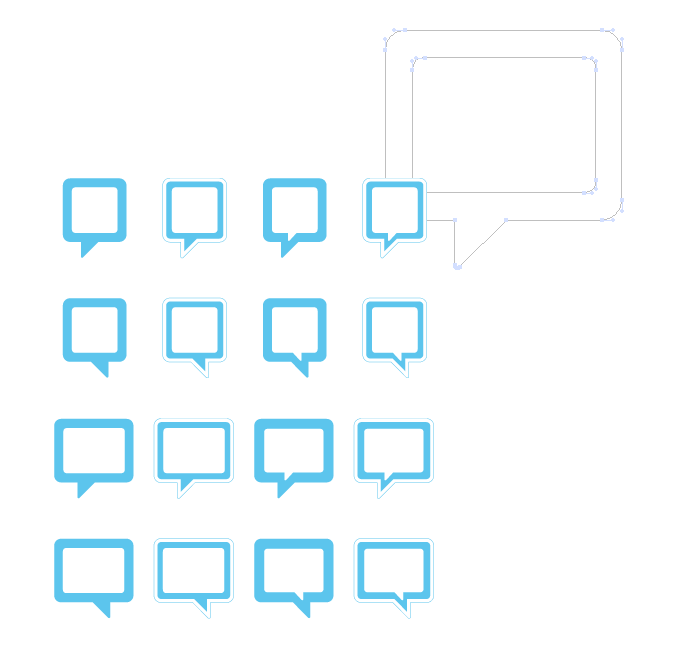 Visuel bulles carrées