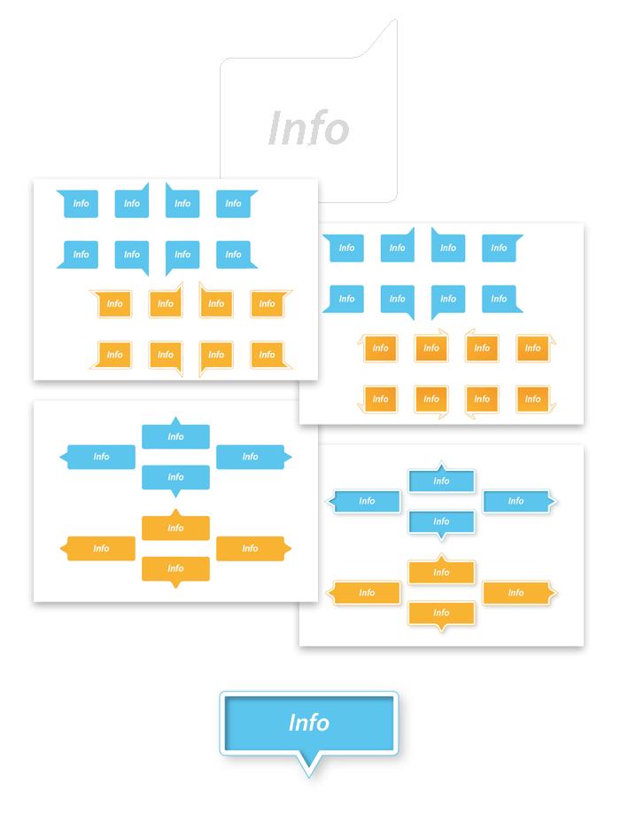 Visuel infobulles rectangles Illustrator