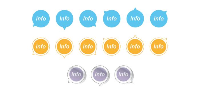 Visuel infobulles rondes Illustrator