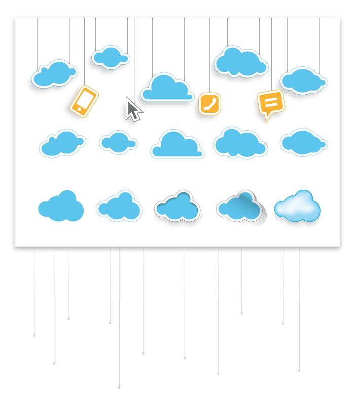 Visuel planche de nuages Illustrator