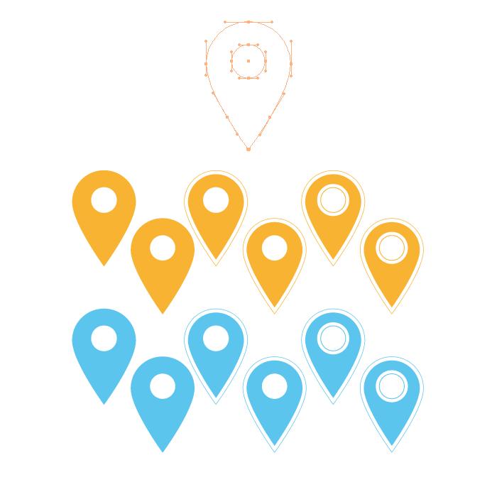 Visuel point de localisation Illustrator