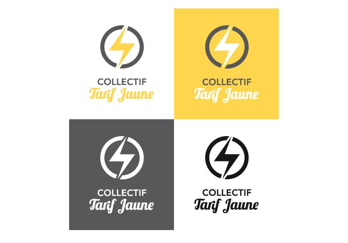 Déclinaison logotype Collectif Tarif Jaune