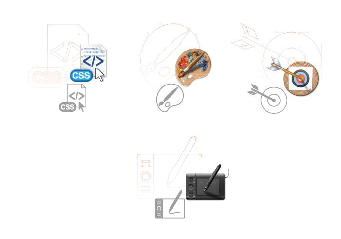 Visuel des icönes du site web 2015 wide-design
