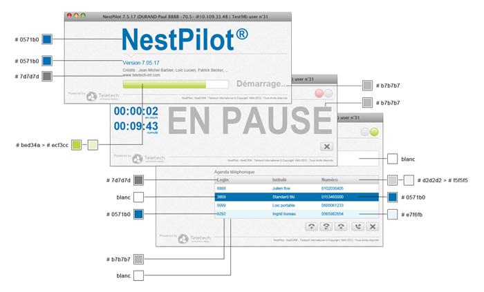 Visuel couleurs écrans NestPilot