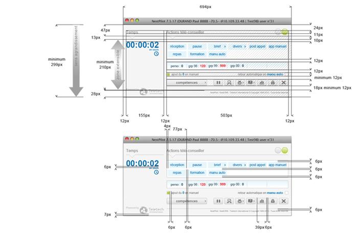 Visuel dimensions écran principal NestPilot