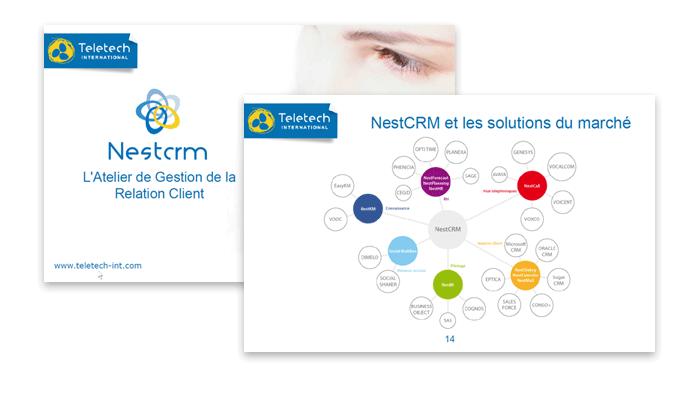 Visuel document de présentation NestCRM