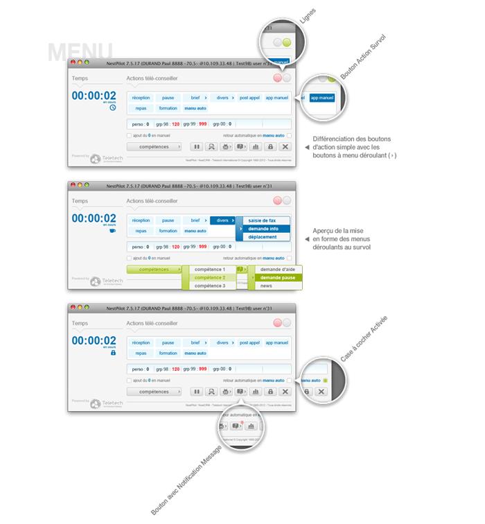 Visuel écran menu NestPilot