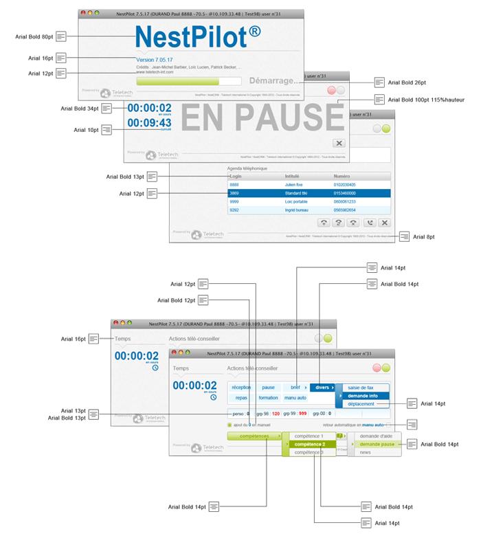 Visuel texte écrans NesPilot