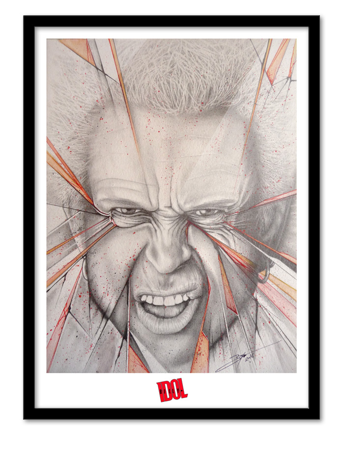 Cadre illustration Billy Idol
