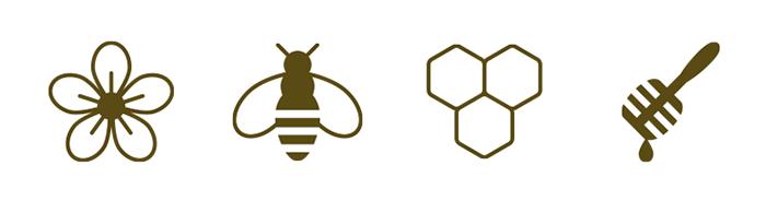 Pictogrammes miel