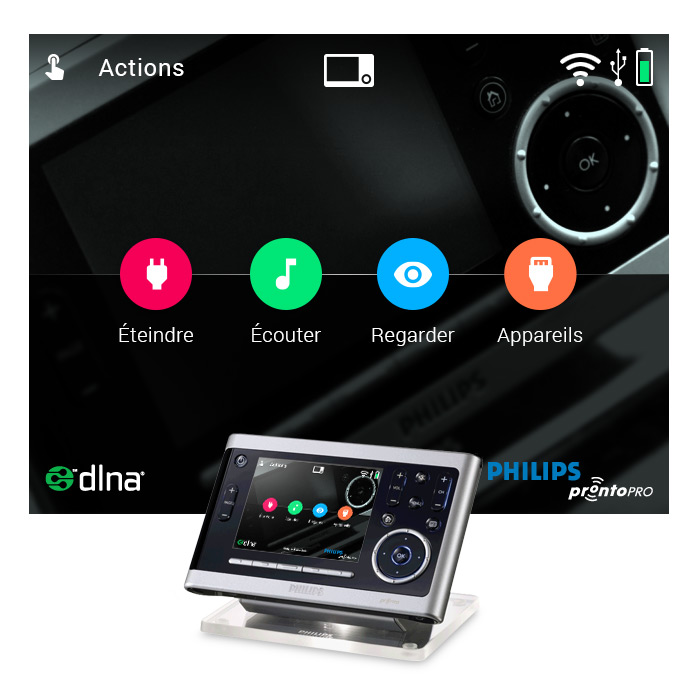 Ecran actions Dark2017 Philips Pronto