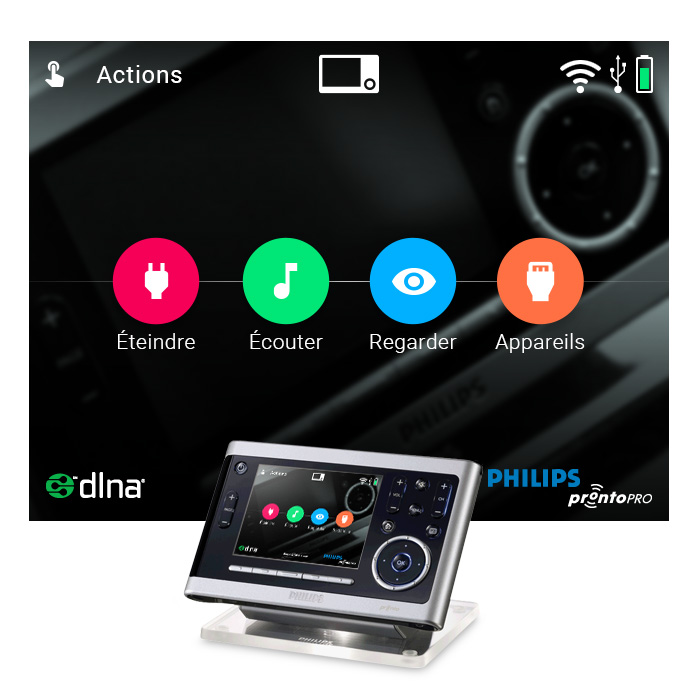 Ecran actions Dark2019 Philips Pronto