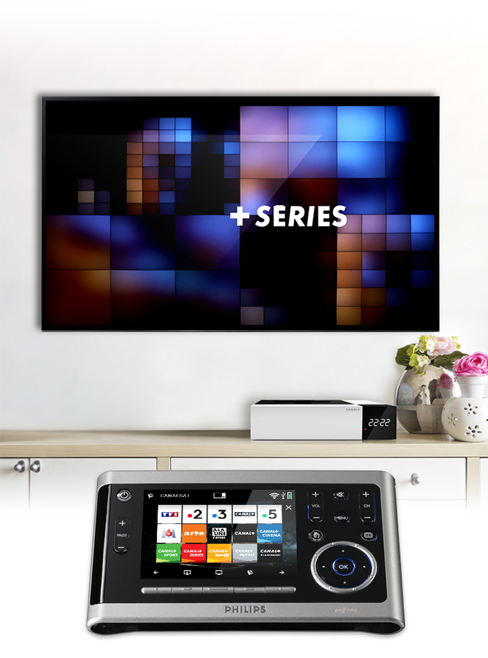 Visuel Philips Pronto écran chaines Dark2018