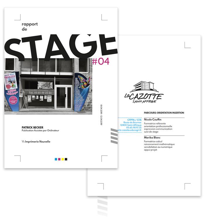 Réalisation Graphique De Rapports De Stage En Pao Wide Design