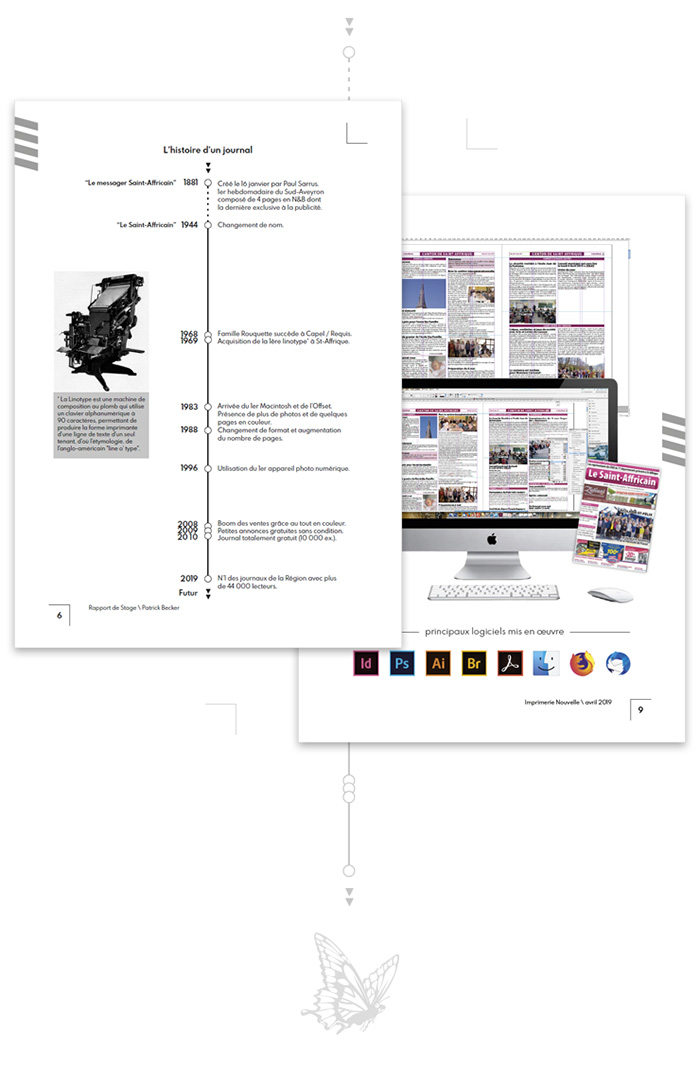 Pages particulieres rapport stage Imprimerie Nouvelle