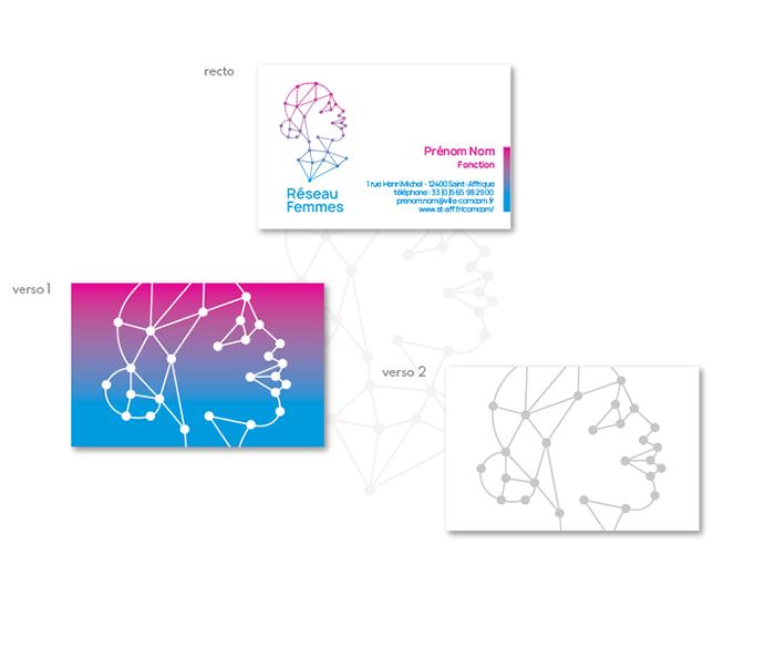 Carte de visite concept 1 logo Réseau Femmes