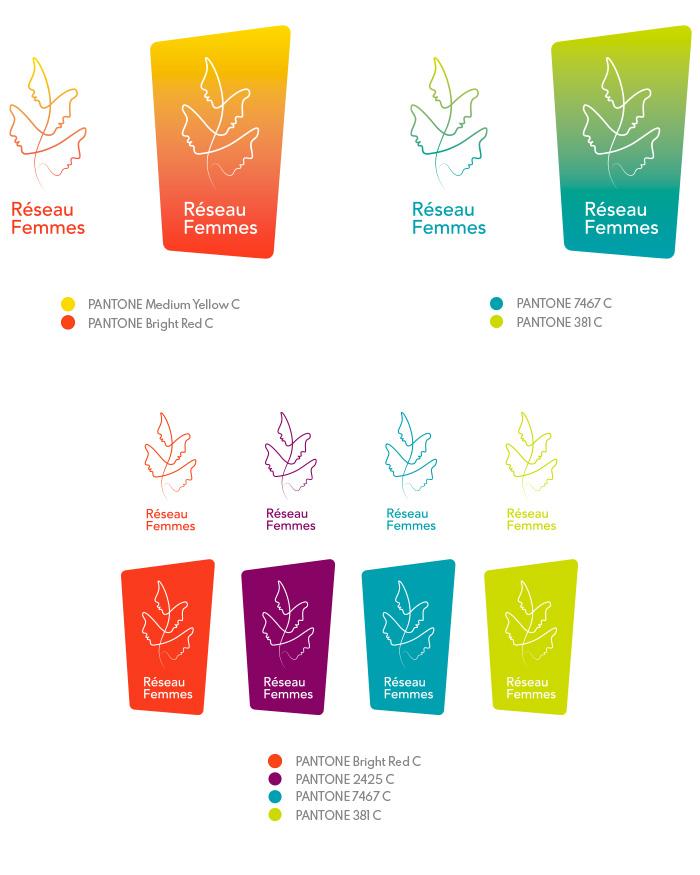 Recherche couleurs logo Réseau Femmes final