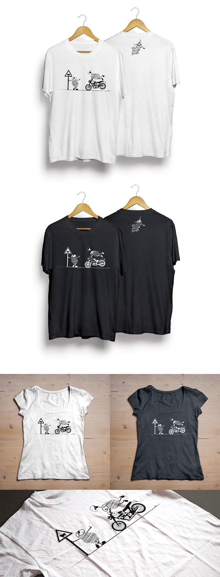 Tshirt Triumph monochrome Tous dans le Douze