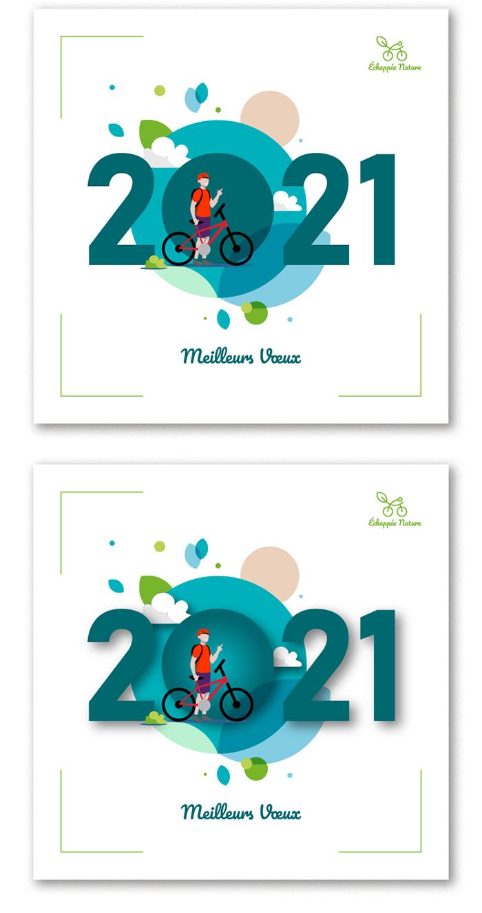 Cartes de voeux Echappée Nature 2021