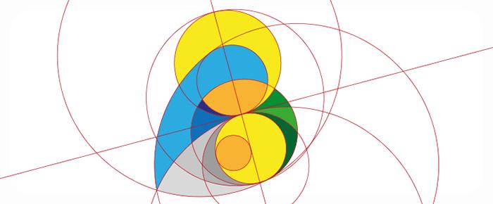 Visuel logotype La Vierge et L'Enfant avec golden ratio